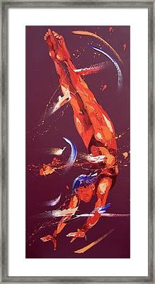 Gymnast Seven Framed Print by Penny Warden
