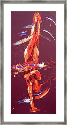 Gymnast Six Framed Print by Penny Warden