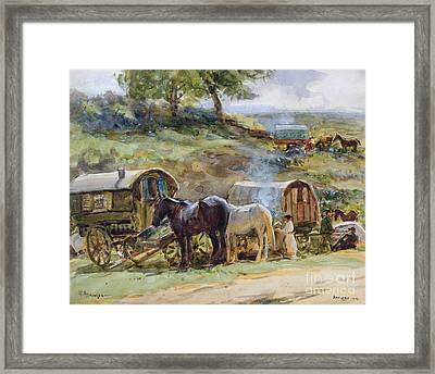 Gypsy Encampment Framed Print by John Atkinson