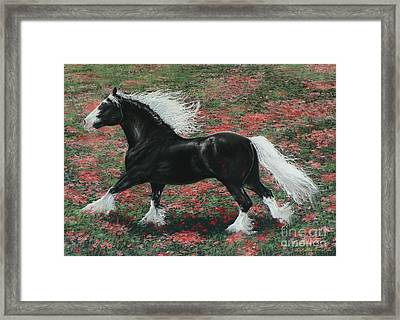 Gypsy Fire Framed Print by Louise Green