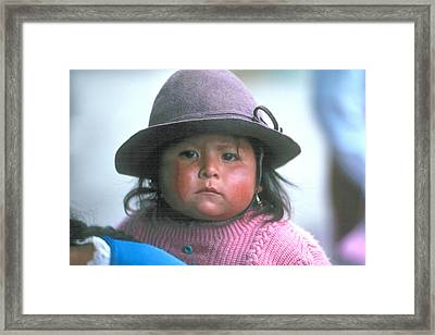 Framed Print featuring the photograph Gypsy Girl by Douglas Pike