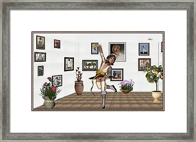 Digital Exhibartition _  Dancing Girl  Framed Print
