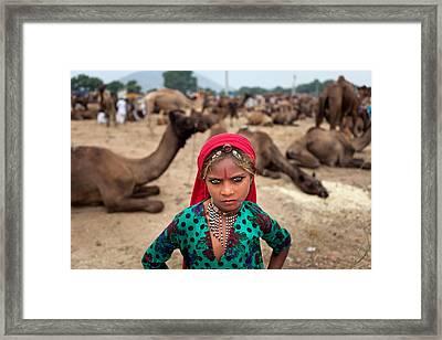 Gypsy Girl Framed Print