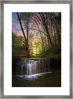 Gypsy Glen  Rd Waterfall  Framed Print