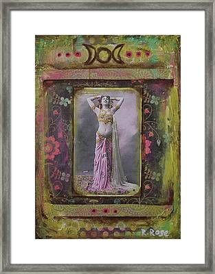Gypsy Goddess Framed Print by Rachael Rose Zoller