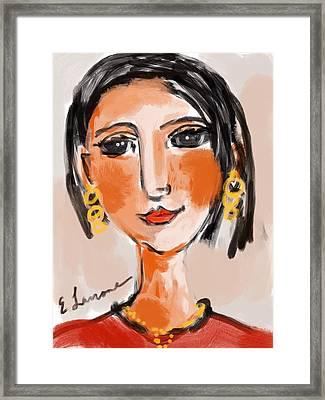 Gypsy Lady Framed Print by Elaine Lanoue