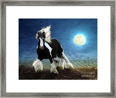 Gypsy Moon Framed Print by Melinda Hughes-Berland