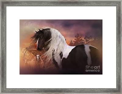 Gypsy On The Farm Framed Print