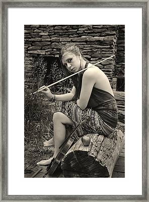 Gypsy Player Framed Print