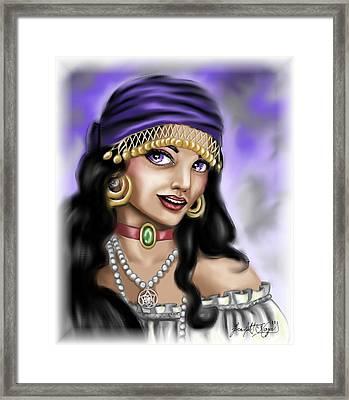 Gypsy Framed Print by Scarlett Royal