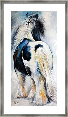 Gypsy Vanner Modern Abstract Framed Print