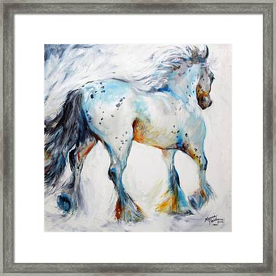 Gypsy Vanner Motion Paint Sketch Framed Print