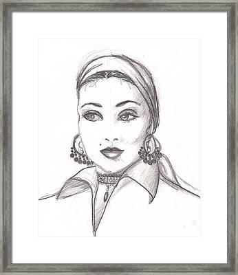 Gypsy Woman Framed Print by Scarlett Royal