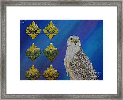 Gyr Falcon Framed Print by Isabel Proffit