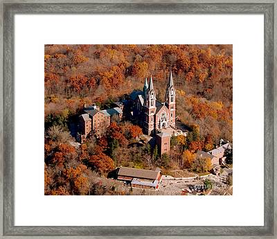 H-001 Holy Hill Fall Framed Print by Bill Lang