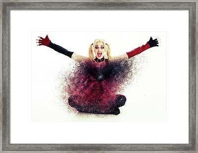H - A - P - P - Y Framed Print by Nichola Denny