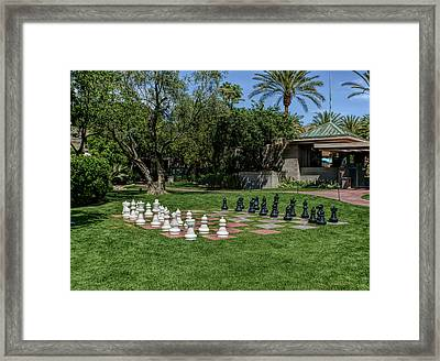 Framed Print featuring the photograph H D R Chess At The Biltmore by Aimee L Maher Photography and Art Visit ALMGallerydotcom