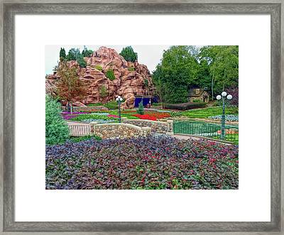 Framed Print featuring the photograph H D R Flower Garden Walkway by Aimee L Maher Photography and Art Visit ALMGallerydotcom