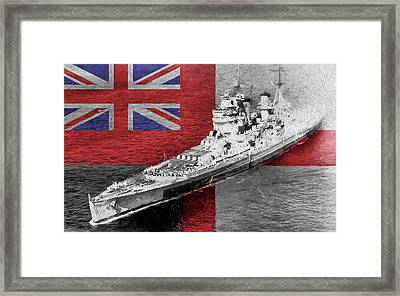 H M S King George V Framed Print