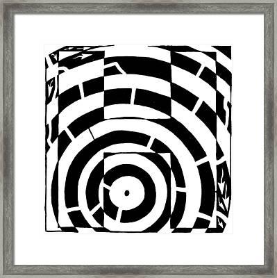 H Maze Framed Print by Yonatan Frimer Maze Artist