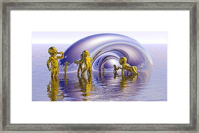 Framed Print featuring the painting H2O by Robby Donaghey