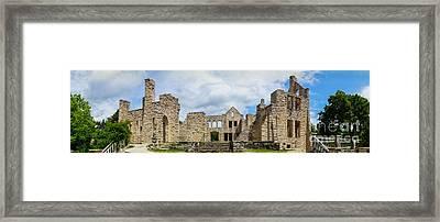 Ha Ha Tonka Castle Panorama Framed Print