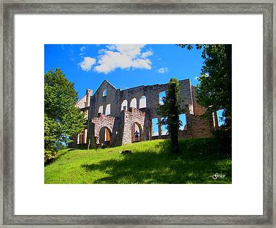 Ha Ha Tonka Castle Framed Print by Julie Grace