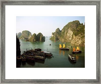 Ha Long Bay Framed Print by Oliver Johnston