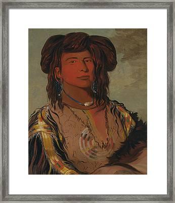 Ha-won-je-tah, One Horn, Head Chief Of The Miniconjou Tribe Framed Print