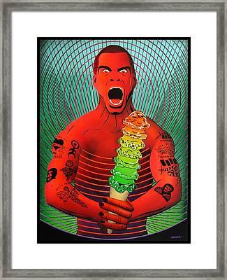 Haangry-rollinzs Framed Print by Bedard Art