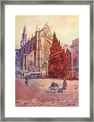 Haarelm Kirk Square Framed Print