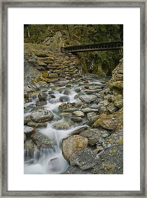 Haast Waterfall Framed Print by Andrea Cadwallader