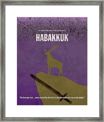 Habakkuk Books Of The Bible Series Old Testament Minimal Poster Art Number 35 Framed Print