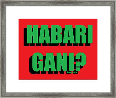 Habari Gani Framed Print