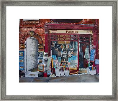 Haberdashery Framed Print by Victoria Heryet