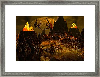 Habitation Of Dragons Framed Print by Claude McCoy