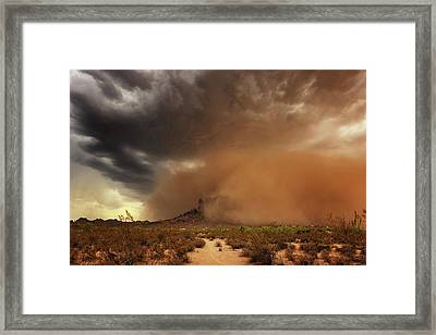 Framed Print featuring the photograph Haboob Is Coming by Rick Furmanek