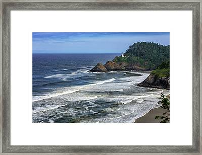 Haceta Lighthouse Framed Print