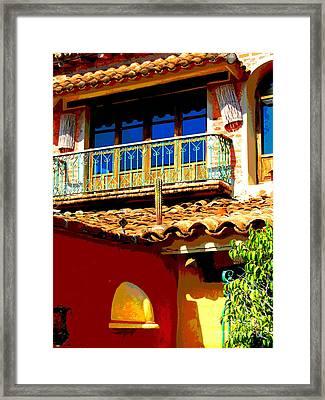 Hacienda Balcony By Darian Day Framed Print by Mexicolors Art Photography