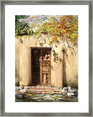 Hacienda Gate Framed Print