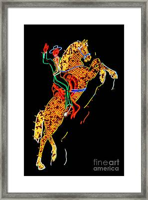 Hacienda Horse And Rider Framed Print by Az Jackson