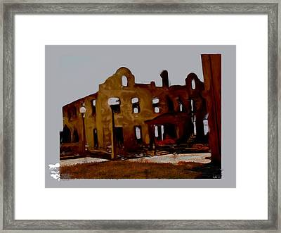Hacienda Mission Framed Print by Maribel McIntosh