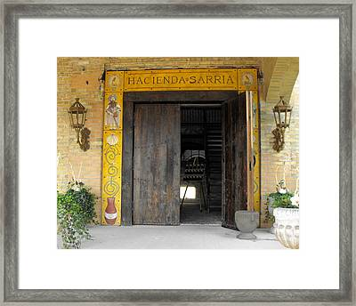 Hacienda Sarria Framed Print by David and Lynn Keller