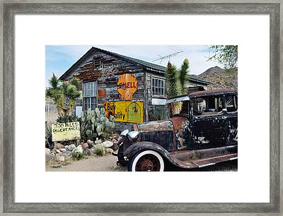 Hackberry Route 66 Auto Framed Print by Kyle Hanson