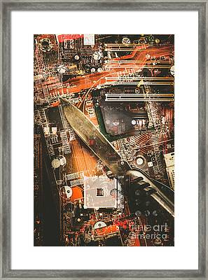 Hacking The System Framed Print