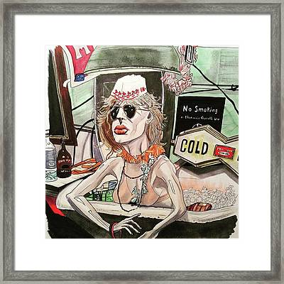 Bathtub Ginny Framed Print