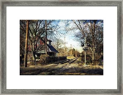 Haddon Heights Train Station Framed Print
