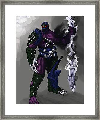 Hades God Of Underworld Framed Print