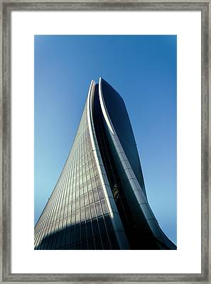 Hadid Tower, Milan, Italy Framed Print