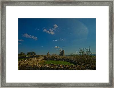 Hadleigh Castle Framed Print by David French